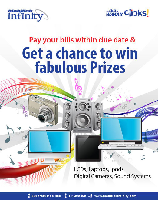 Win Prize by Paying Mobilink Infinity Bill