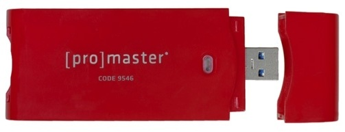 ProMaster MultiReader 3.0 Card Reader uses USB 3.0
