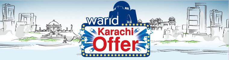 Warid Presents Karachi Offer