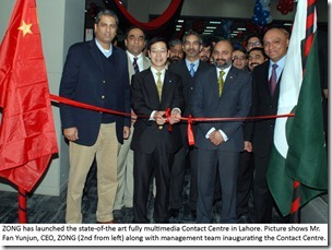 Zong Launches Contact Center in Lahore