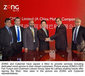 Zong signs MoU with Cybernet