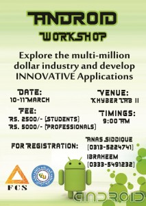 Workshop for Android Developers in Islamabad
