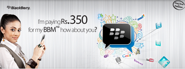 Ufone Presents BBM Just in Rs. 350/month
