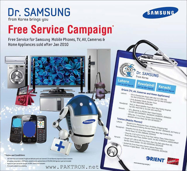 Dr. Samsung Launches Free Service Campaign in Pakistan