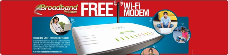 PTCL Gives Free WiFi Modem