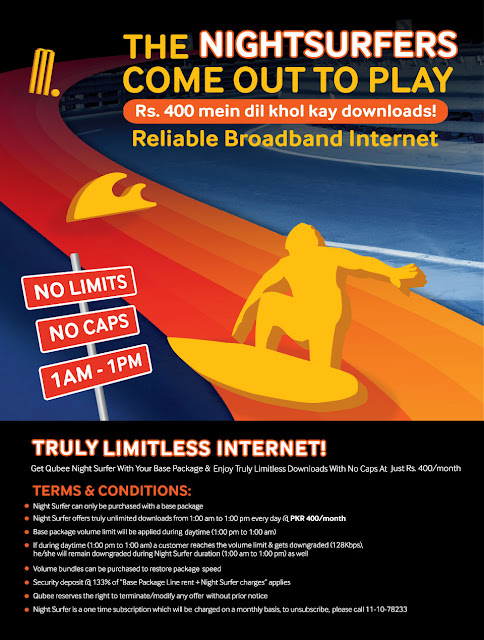 Qubee Nightsurfers Offers Unlimited Internet from 1AM to 1PM