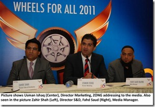 Zong Gives 150Cars to Franchises