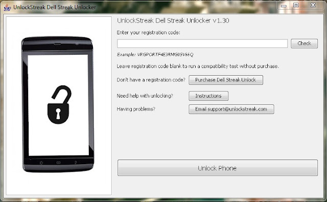 How to Unlock Dell Streak 5