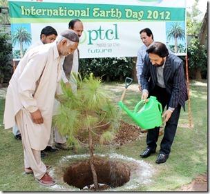 PTCL Celebrates Eart Day 2012 by Tree Plantation