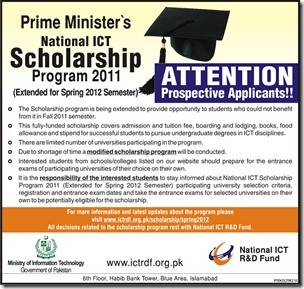 Get Undergraduate Degree Funded by National ICT Scholarship Program 2012