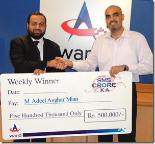 Warid Announces First Winner of 'SMS Crore Ka'