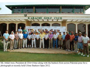 Ufone Hosts the first of its kind Ufone Banker Open 2012