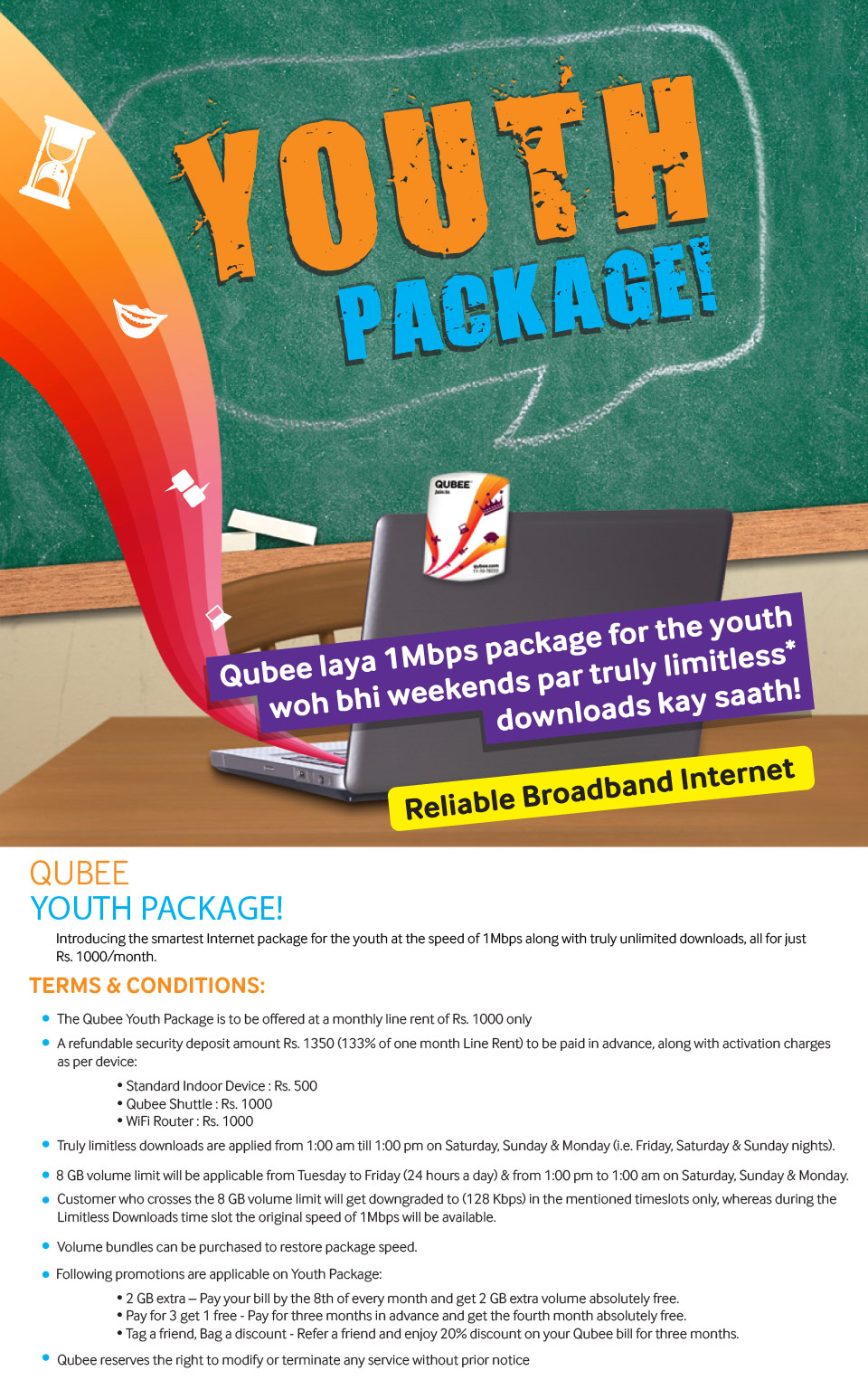 Qubee Presents Youth Package
