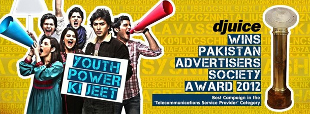 Djuice Wins Pakistan Advertisers Society Award 2012