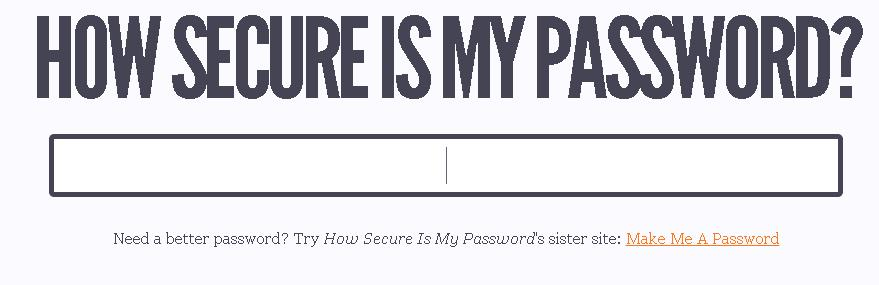 Check How Secure is Your Password