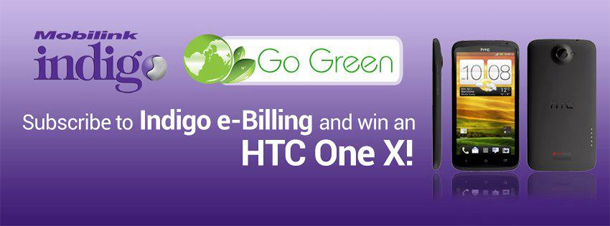 Subscribe to Indigo e-Billing and Win an HTC One X