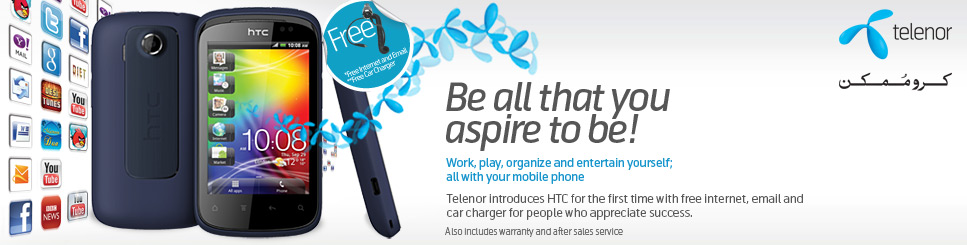Telenor Introduces HTC Smartphones with Free Internet
