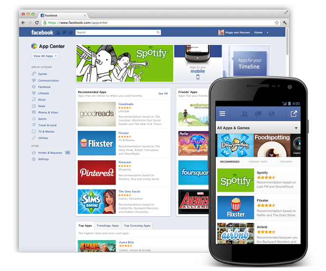 Facebook Launches its own App Center