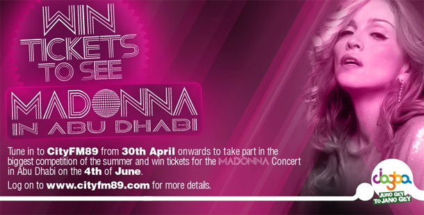 Jazz Jazba Offers Free Tickets for Madonna's Concert in Abu Dhabi