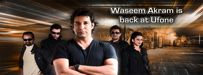 Waseem Akram Leaves Mobilink and Come Back to Ufone