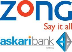 Zong and Askari Bank to Start Branchless Banking