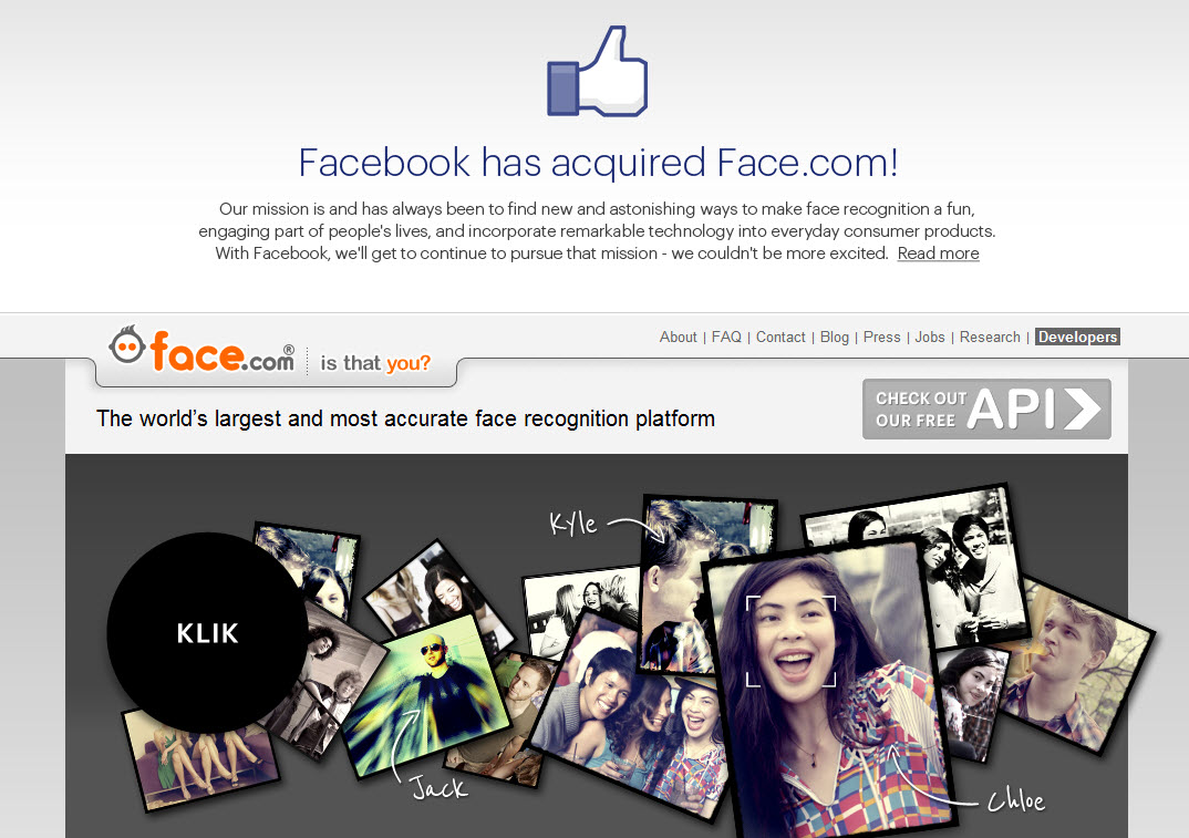 Facebook Bought Face.com [Confirmed]
