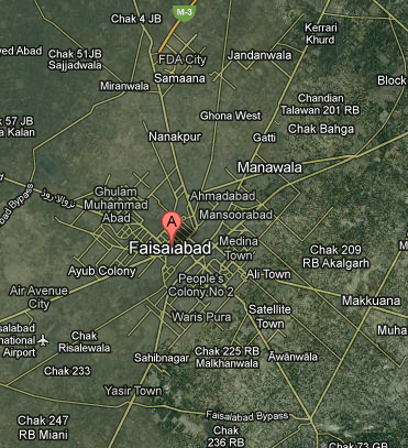 Faisalabad Declared Best Mapped City in Google Maps