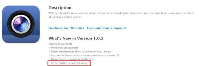 Facebook Camera App on iOS Gets Updated