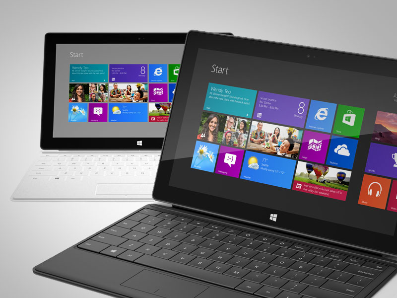 Microsoft Announces Tablets, Surface and Surface Pro