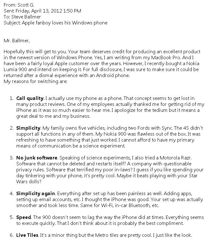 Apple Fanboy Loves Windows Phone