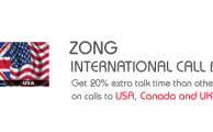Zong Offers International Call Bundles