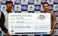 Warid Announces 'SMS Croe Ka' Rs. 10 Million Grand Prize Winner