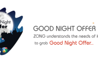 Zong Brings Good Night Offer - Unlimited Internet During Night