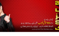 Mobilink's Jazz and Jazba Brings New Year Offer to Give Free Calls, SMS and Mobile Internet to New Subscribers During 2013