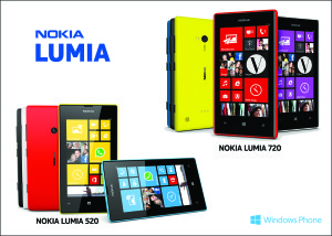 Nokia Lumia 720 & 520 Device Picture