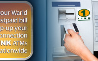 Warid Offers the Facilities of Bill Payment and TopUp via ATM