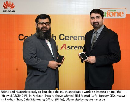 Ufone Huawei Ascend P6 handset