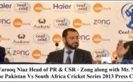 Zong Sponsored Pak Vs SA Cricket Series