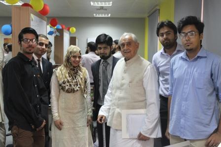 Syed Babar Ali with team Interacta