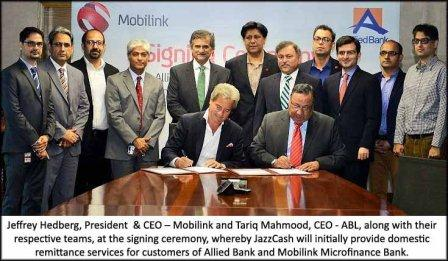 ABL and Mobilink Signing PR