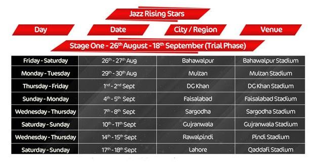 Jazz-Schedule