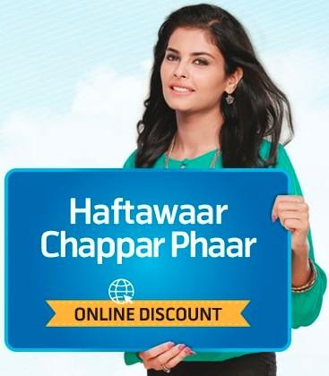 Telenor-Haftawaar Chhappar Phaar Offer
